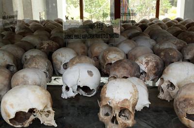 Phnom Penh, Cambodia Inside Choeung Ek Memorial Stupa south of Phnom Penh