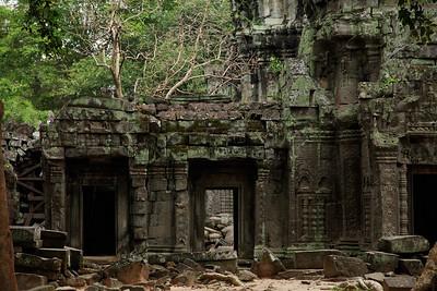 Siem Reap, Cambodia Ta Prohm temple ruins at Angkor.