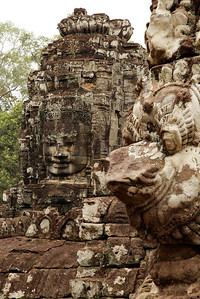 Siem Reap, Cambodia Faces at Angkor Thom.