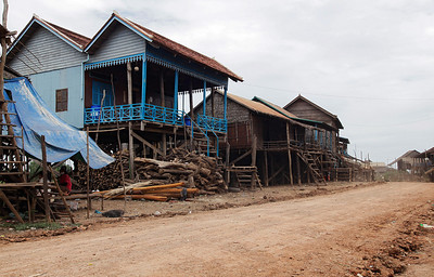 near Tonlé Sap Lake, Cambodia Houses in the fishing village we visited near Tonlé Sap Lake, Cambodia
