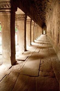 Siem Reap, Cambodia Third Enclosure Gallery at Angkor's Ta Prohm temple.