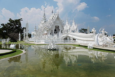 Chiang Rai Province,Thailand Wat Rong Khun (White Temple) in northern Thailand near the Laos border.