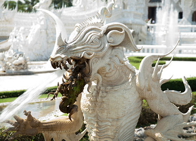 Chiang Rai Province,Thailand A demon statue at Wat Rong Khun (White Temple) in Chiang Rai Province in northern Thailand.