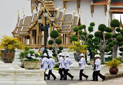 Bangkok, Thailand Changing of the Guard at the Grand Palace.