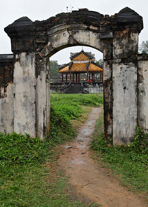 Huế, Vietnam Looking through an archway at the Imperial City in Huế.