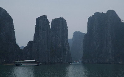 Hạ Long Bay, Vietnam The limestone islands of Hạ Long Bay form beautiful rock formations rising from the water.