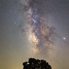Made from 7 light frames by Starry Landscape Stacker 1.8.0.  Algorithm: Min Horizon Noise