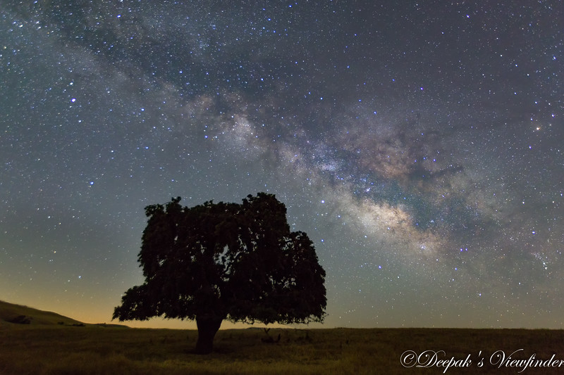 Made from 5 light frames (captured with a Canon camera) by Starry Landscape Stacker 1.6.1.  Algorithm: Median