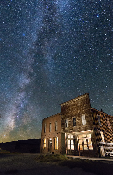 Milky Way Over Bodie Main Street