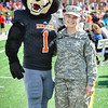 Tenn Tech Mercer Football, Toby with soldier