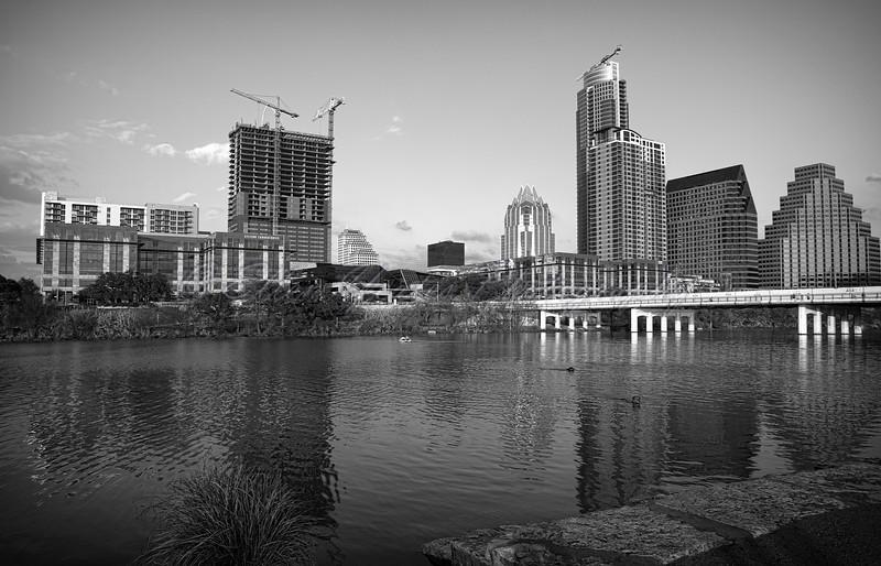 B&W Austin Skyline