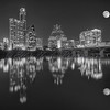 Austin Skyline with Full Moon