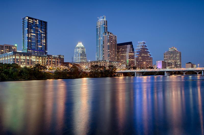 Austin Skyline during Blue Hour
