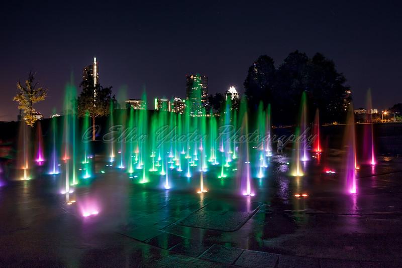 The Liz Carpenter Fountain at Butler Park
