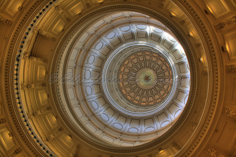 <b>Dome</B> Texas' capitol dome is almost 15 feet taller than that of the national capitol.  This photo was taken on April 22, 2009.