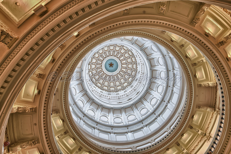 Texas Capitol Dome<br /> <br /> It is almost 15 feet taller than that of the national capitol.<br /> <br /> This photo was taken on April 20, 2011.