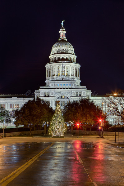 <b> Texas State Capitol </b>  I was middle of street during photo shooting.  A police almost stopped by me but by the time, I was done with photo shooting  and ran back to the street.