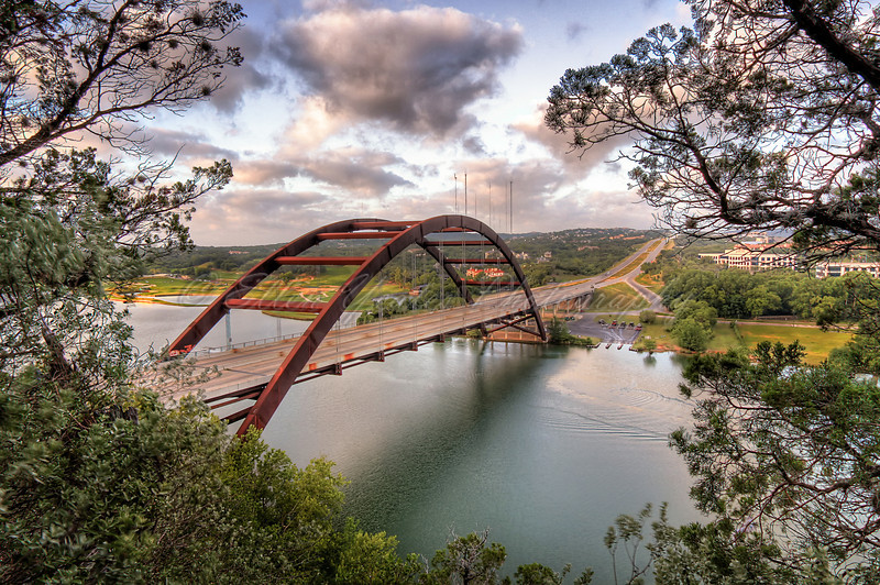 <b> Framed Pennybacker Bridge</b>
