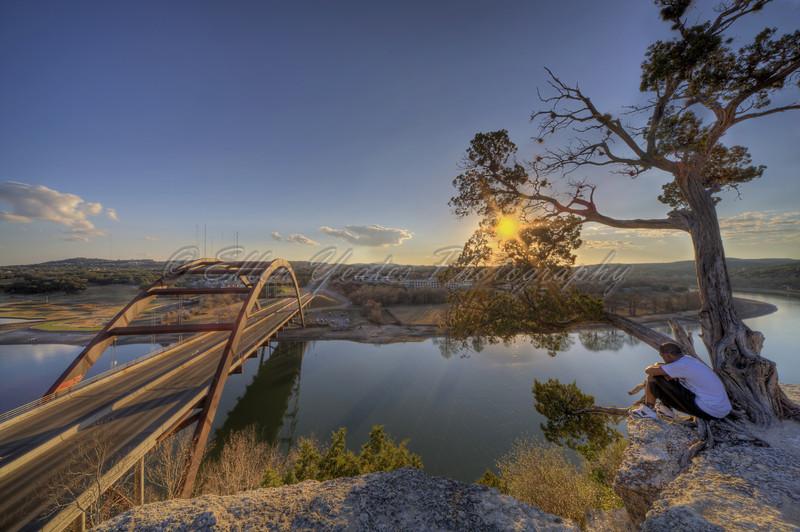 <b>Lake Austin Sunset from 360 Bridge Overlook  </b>