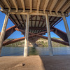 <b> Under 360 Bridge ~ During Sunset ~</b>  The boat ramp under the bridge is very popular. The bridge spans Lake Austin.