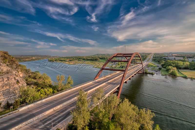 The Pennybacker Bridge<br /> <br /> Shot before Sunset