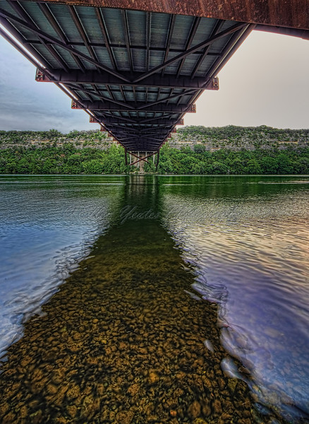 Underneath 360 Bridge<br /> <br /> The boat ramp under the bridge is very popular. The bridge spans Lake Austin.<br /> <br /> This photo was taken on May 9,  2010 after sunrise.