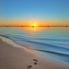 Sunset footprints