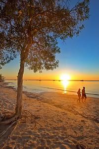 Sunset walk on Fraser Island