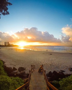 Sunset views over the Gold Coast