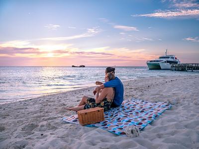 Sunset picnic at Heron Island