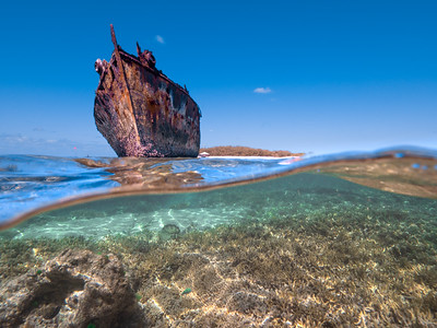 Shipwreck of HMAS Protector on Heron Island