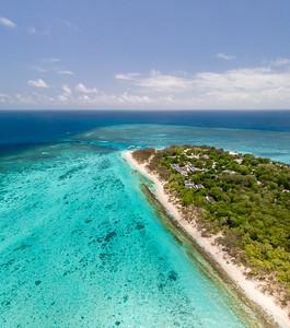 Aerial view of Heron Island