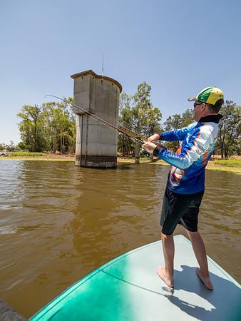 Fishing at Theresa Creek Dam