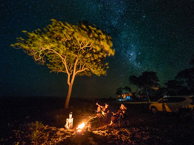 Camping under the stars at Clairview