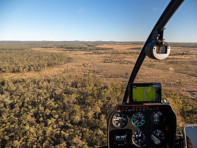 Helicopter flight with Bush Heli Services