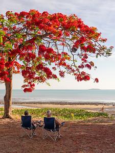 Relaxing at Barracrab Caravan Park