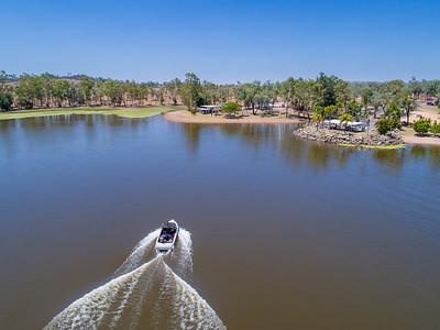 Water skiing at Theresa Creek Dam