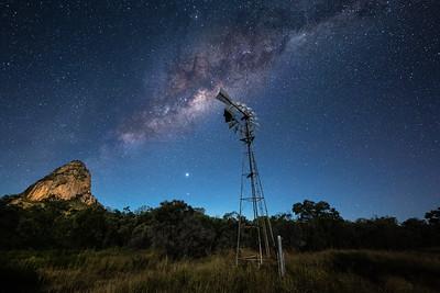 Milky Way rising over Wolfang Peak