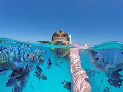 Fish selfie at Lady Musgrave Island!