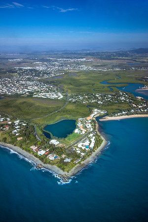 Flying over the Mackay northern beaches