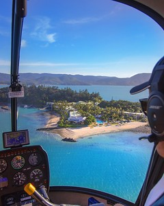 Helicopter ride into Daydream Island