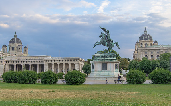 The monument of Archduke Charles on Heldenplatz, Vienna