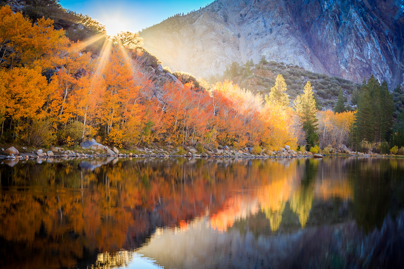 Autumn Starburst over North Lake