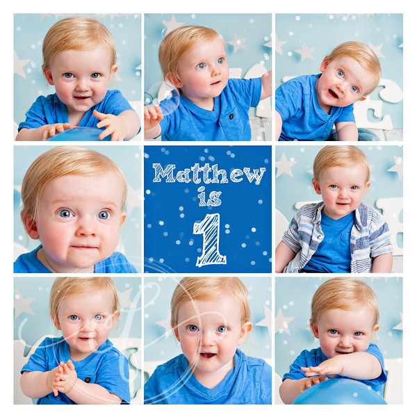 "12""x12' Collage Print included with all First Birthday Photoshoots"