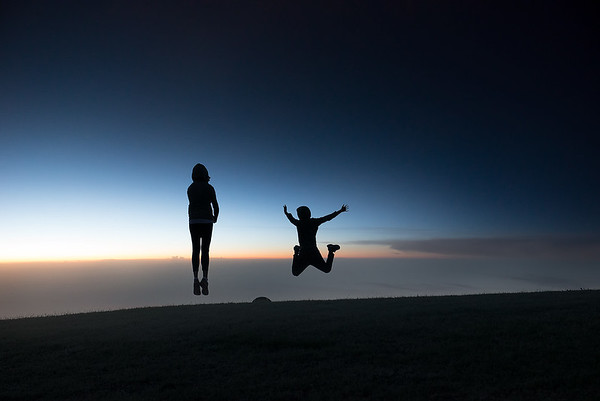 I can fly... Ritika and Rohan enjoying last light of the day at park