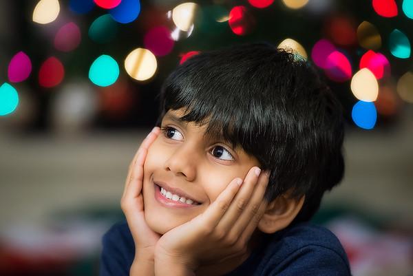 Rishab Kattimani in his own Christmas dreams during his visit to Houston, Texas