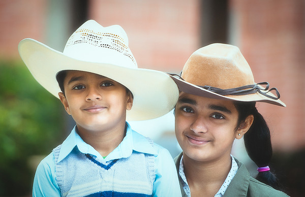 Ritika and Rohan in Texans outfit on Texas day celebration