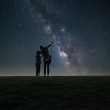 A special photo for a special occasion... Rohan and Ritika under Milky Way