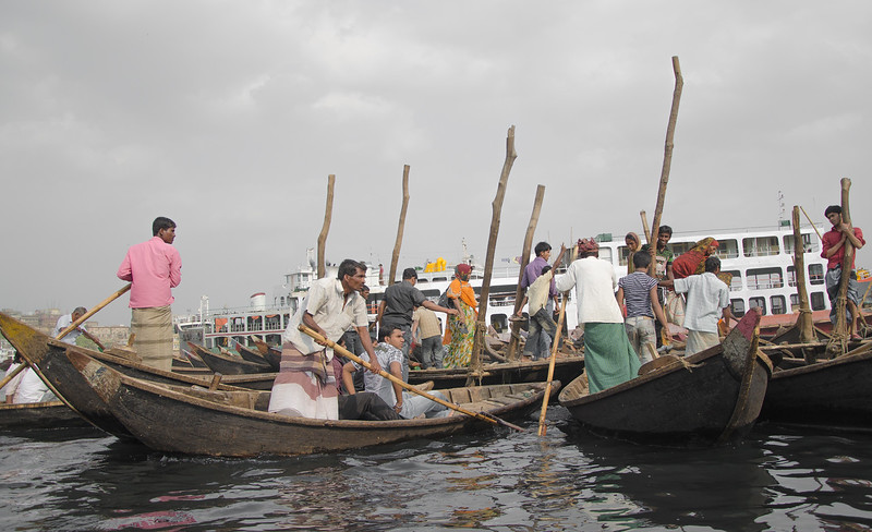 Taxi boats in the Buriganga river