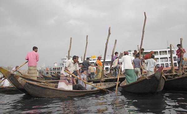 Taxi boats in the Buriganga river